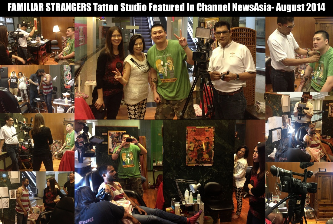 FAMILIAR STRANGERS Tattoo Studio Featured In Singapore's News Station- Channel NewsAsia